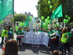 (5) (sabzphoto) Tags: uk people london iran britain crowd protest farzad  iranelection   kamangar   farzadkamangar