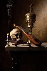 Vanitas Still Life with Pochette (kevsyd) Tags: stilllife skull pochette vanitas kevinbest dutchstilllife