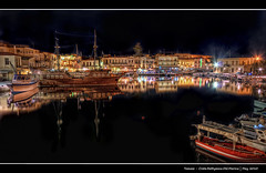 200/365 - HDR - Crete.Rethymno.Old.Marina.@.1150x750 (Pawel Tomaszewicz) Tags: camera new light shadow summer holiday fish streets eye water colors architecture night marina photoshop canon buildings lens boats island greek photography eos lights islands town photo long exposure foto view shot creative kreta hobby fisheye greece crete fotografia greekislands hdr cyclades fable woda noc aparat pawel rethymno wakacje oko rethymnon kriti architektura  3xp grecja photomatix   odpoczynek wiata wyspa odzie 400d wyspy eos400d 1200x800 fotografowie polscy cyklady hdratnight rybie  tomaszewicz paweltomaszewicz