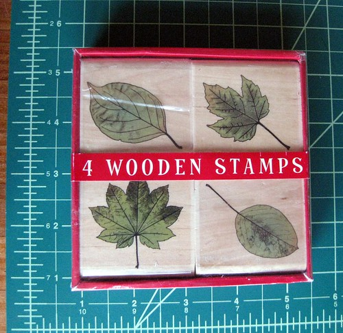 New leaf stamps, still in box with cellophane