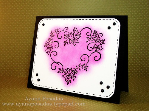 Rosevine Heart- Pink (2)