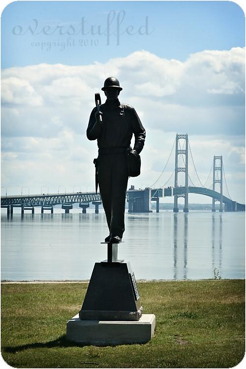 Statue with Bridge
