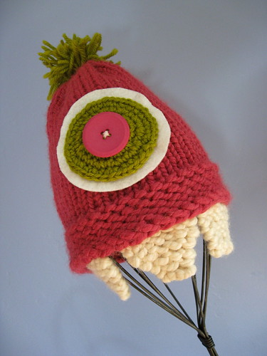 Pink monster hat