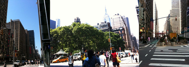 enjoying the morning #walkingtoworktoday triptych after a great @creativemorning at @moma