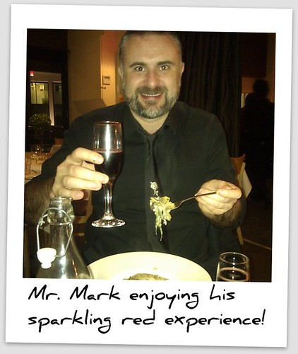 Mark on sparkling red day!