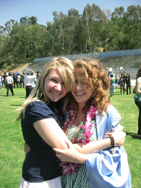 sisters at graduation