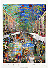 Las Ramblas (by_irma) Tags: barcelona art poster spain kunst cartoon espana lasramblas colourful spanje dimormar anthonypilley samenmetzussie