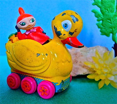 LITTLE MY TAKING IT EASY ! (Toypincher) Tags: new old vintage toy duck ride little wheels moomins collectable my