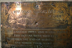 All Saints, Crondall - memento mori