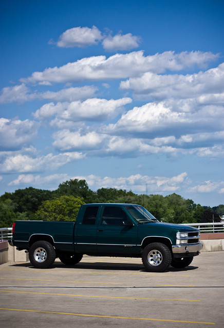 2 green chevrolet k lift pickup chevy 1997 1500 97 lifted z71