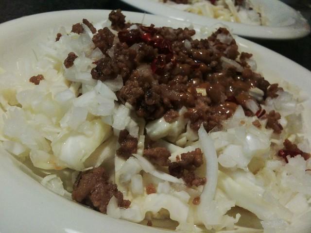 #jisui 納豆とひき肉のタイ風スパイシーサラダ!