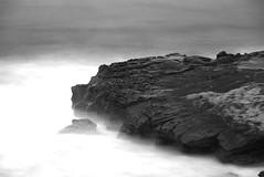 La Jolla mist (Jim Nix / Nomadic Pursuits) Tags: ocean california ca longexposure travel sea bw mist beach water monochrome blackwhite nikon rocks sandiego wave lajolla pacificocean socal nomadicpursuits
