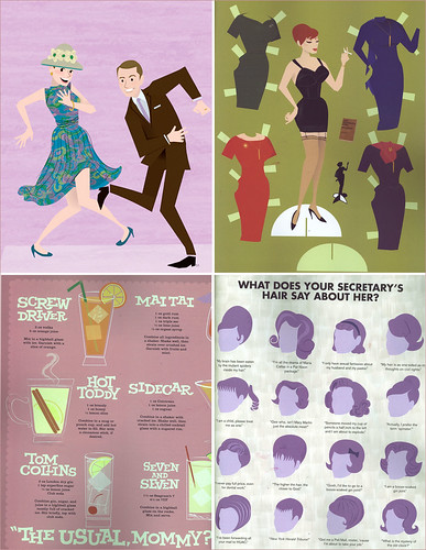 some of my favorite sections from the Mad Men Illustrated World by Dyna Moe