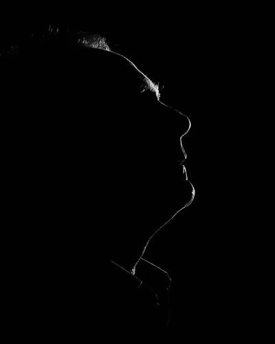 FWL Self Portrait - silhouette