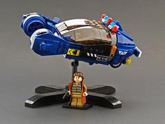 Blade Runner Spinner (Legohaulic) Tags: film movie lego bladerunner spinner sydmead creationsforcharity cfc2010 creationsforcharity2010