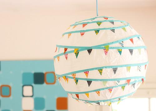 bunting paper lantern
