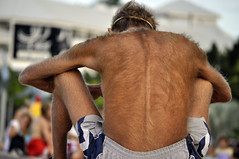 Hairy guy (Roving I) Tags: skinny australia leisure cairns bodyhair hairybacks