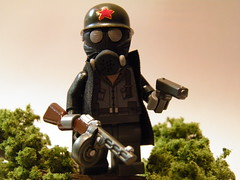 Russian Gas Mask Soldier (~Amadgunslinger~) Tags: world war call lego fig duty wwii mini ii guns minifig custom colt warfare ppsh brickarms m1919