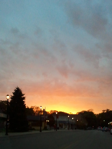sunset on Linden