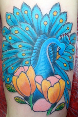 peacock (Justin Dion) Tags: flowers tattoo peacock tattoos