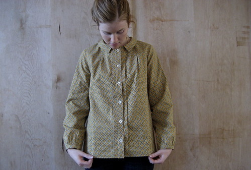 harvest calico blouse.