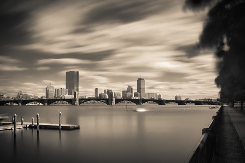 Boston in ultra-long time exposure