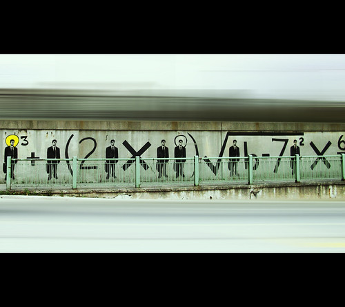 graffiti human math equation