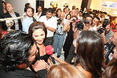 Elissa at the opening of Yehia & Zakaria salon (Elissa Official Page) Tags: elissa salon opening 2012   2011   yehia zakaria