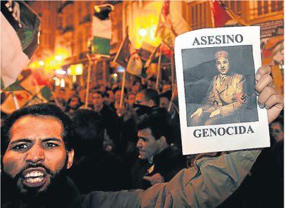 10k10 Saharauis protestan en Valencia sin texto