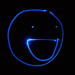 Happy light smile (solabuen) Tags: blue light smile dark painting happy nikon zoom led smiley d60