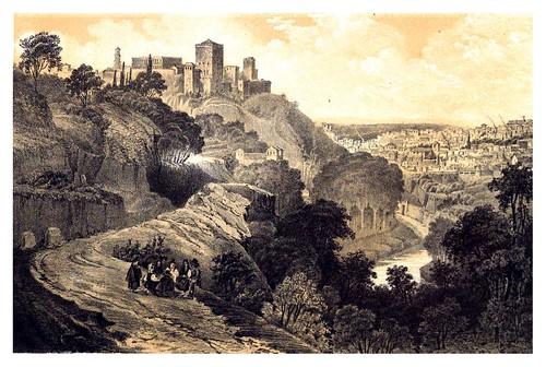 012-Camino de la fuente del Avellano alrededores de Granada-Recuerdos y bellezas de España-Reino de Granada