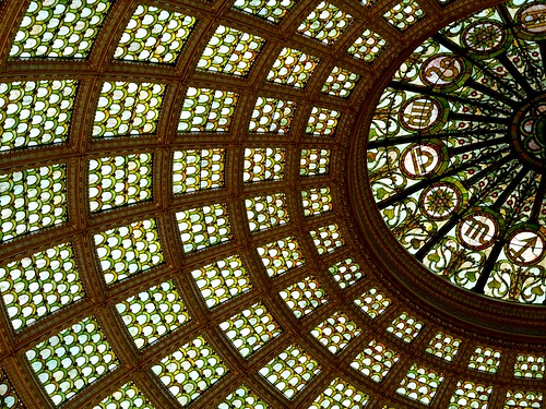 Tiffany Glass Dome at the Chicago Cultural Center