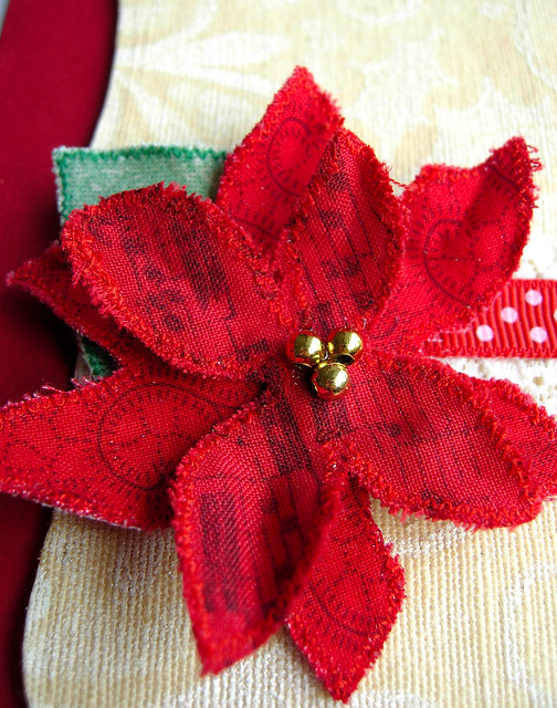 Frayed Poinsettia