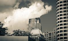IMG_1890 (kz1000ps) Tags: boston massachusetts architecture urbanism cityscape downtown tower skyscraper millenniumtower glass blue sky clouds splittone
