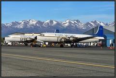 N747CE & N9056R Everts Air Cargo (Bob Garrard) Tags: n747ce n9056r everts air cargo douglas dc6 liftmaster c118 anc panc