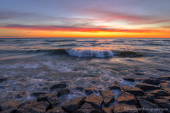 Lake Michigan ... breaker breakers (Ken Scott) Tags: sunset rocks breaker crescentmoonset leelanau michigan usa 2017 june spring 45thparallel hdr kenscott kenscottphotography kenscottphotographycom freshwater greatlakes lakemichigan sbdnl sleepingbeardunenationallakeshore voted mostbeautifulplaceinamerica