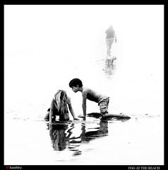 -1641_Fog (trinrn7) Tags: fog padreisland water monochrome beach