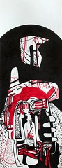 Jim Harris: Departure. (Jim Harris: Artist.) Tags: art dessin avantgarde space weltaum cosmos metaphysics metaphysical geometrický geometric geometrisk technology technik mfa rysunek zeitgenössische zeichnung