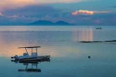 Tranquility (iammattdoran) Tags: calm water still sea bohol boat anda philippines pesos sailing swimming urchin residence beach twilight evening sunset dusk quiet