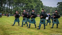Pipe Band (FotoFling Scotland) Tags: lochlomond piper scotland bagpipe kilt kilted lussgathering lusshighlandgames meninkilts pipeband fotoflingscotland