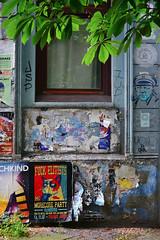 Wall / Marktstraße (Images George Rex) Tags: hamburg de wall posters marktstrase photobygeorgerex imagesgeorgerex germany streetart grumpycat morecoreparty streetstickers graffiti