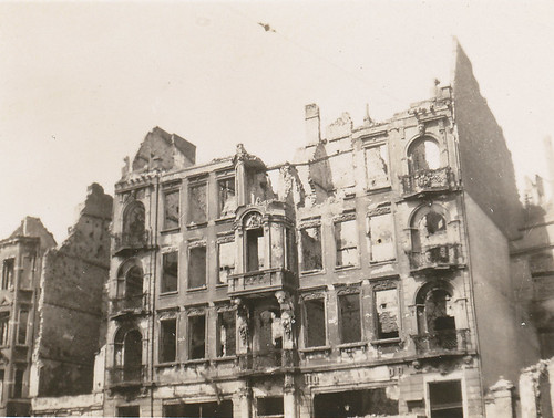 Shell of a fine building, Poland, summer 1946