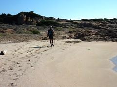 Marche sur la plage de Campo Mezzano : pas grand monde...