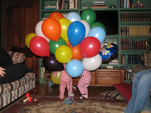 Grandpa's birthday balloons!