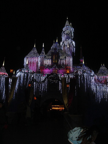 Icicles on Sleeping Beauty Castle