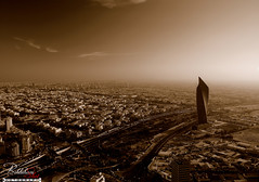 Sepia City of Kuwait (Behbehani-Shot.com) Tags: city tower sepia night dark blackwhite nikon shot action filter kuwait polarizer burg kuwaitcity darkcity burj q8 dsw alhamra flickraward d40x behbehani behbehanishot wideangle12mmadapter dswprodigitalkingwideconverter07x12mm dswpro 07x12mm altijaria