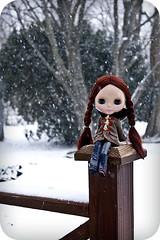 Noelle in the snow
