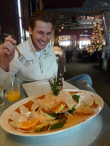 Fried Chicken Eggs Benedict at Hash House a Go Go