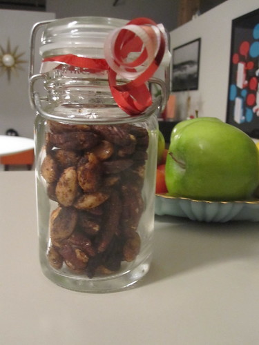 A few of mom's roasted nuts