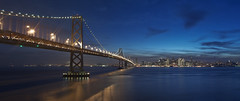 San Francisco Skyline at Dusk (Matt Granz Photography) Tags: ocean sf sanfrancisco california city longexposure blue panorama skyline architecture night clouds port reflections dark stars island lights evening bay twilight nikon cityscape waterfront skyscrapers pacific dusk wideangle tokina coittower baybridge bluehour transamerica yerbabuena holidaylights sincity twilite d90 portofsf embarcaderro visipix paramangroup